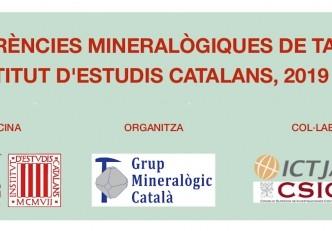 Conferències mineralògiques de tardor a l'Institut d'Estudis Catalans 2019