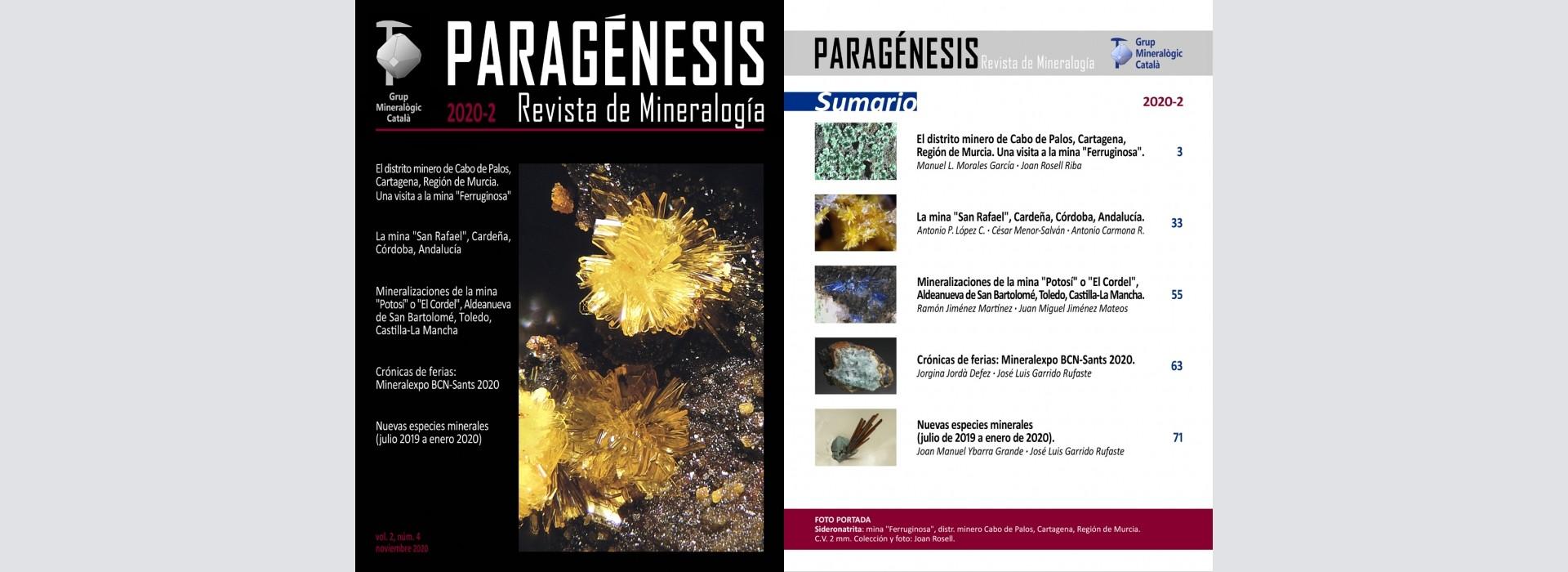 Nova revista Mineralogistes de Catalunya 2020-2 i Paragénesis 2020-2