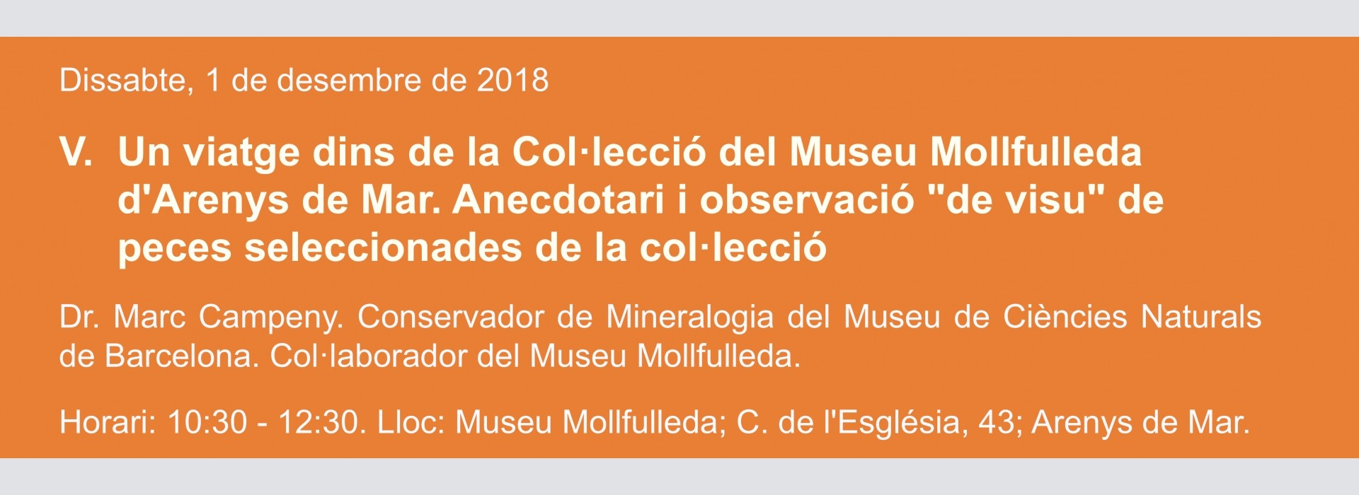 Conferencia 2. 4º Ciclo de Conferencias mineralógicas de Otoño 2018