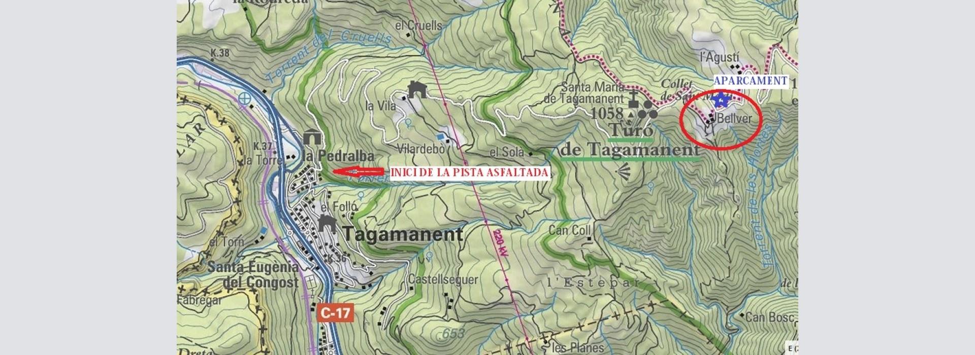 """Salida del GMC a la mina """"Gato"""", sot de les Afraus, Tagamanent, el Vallès Oriental."""
