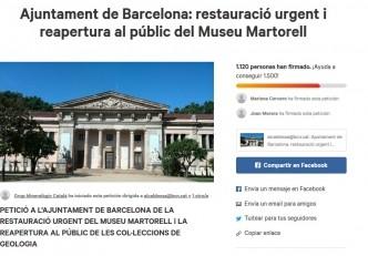 Necessitem firmes! Ajuntament de Barcelona: restauració urgent i reapertura al públic del Museu Martorell