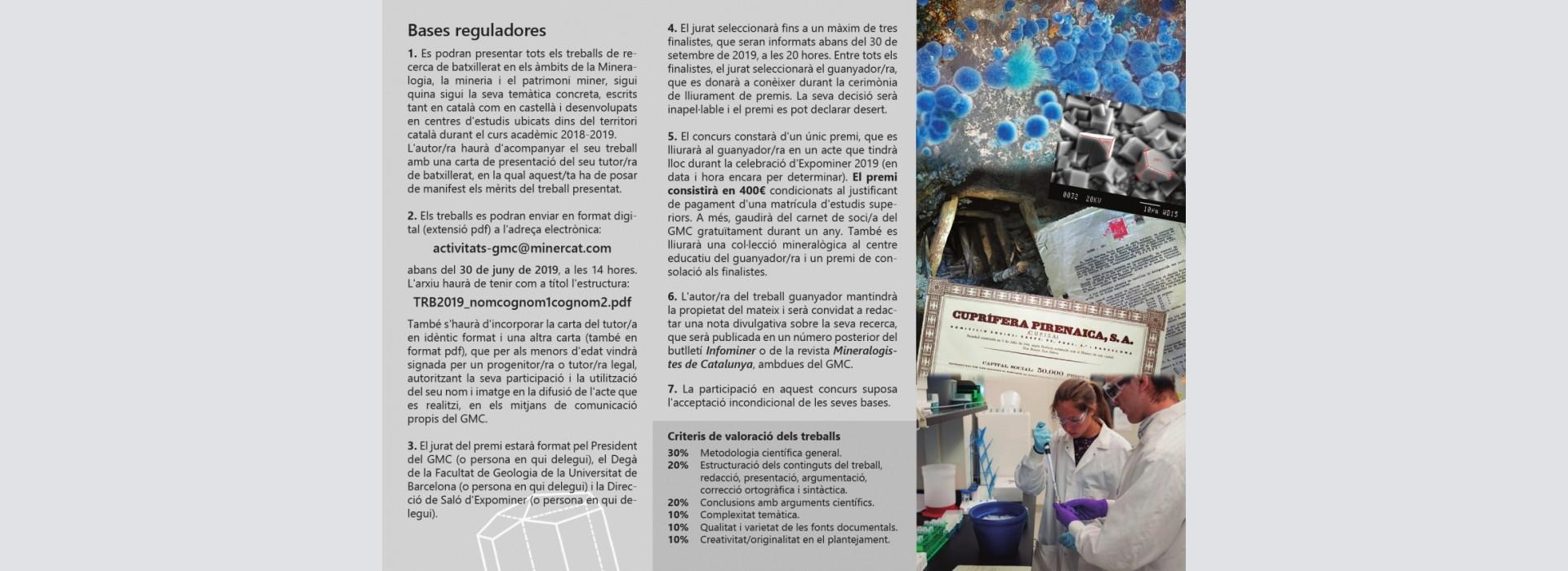 Premi GMC 2018-2019 a treballs de recerca de batxillerat