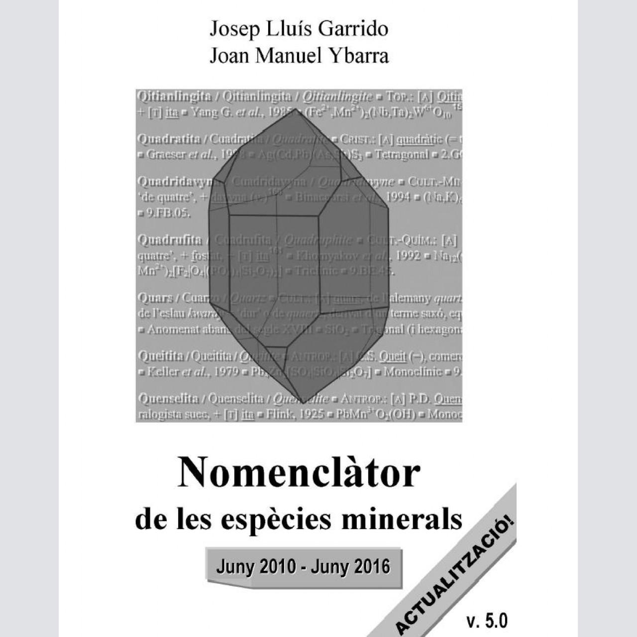 <em>Nomenclàtor de les espècies minerals</em> (actualización 5.0)