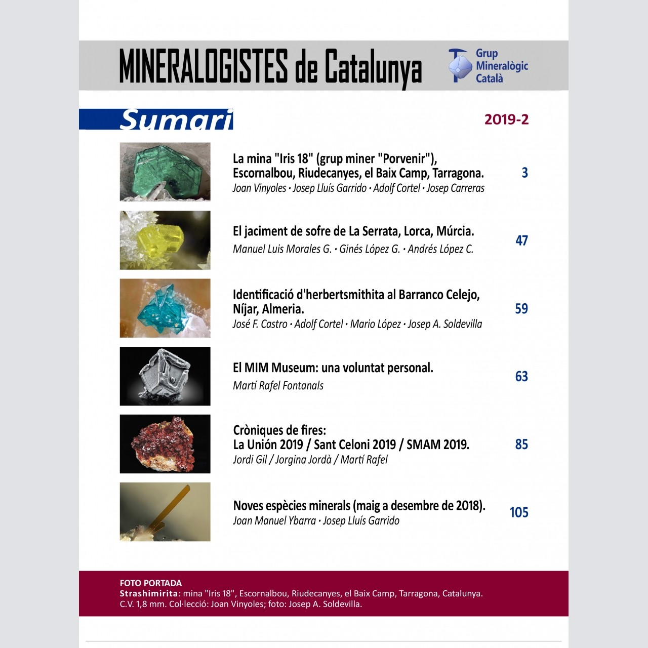 <em>Mineralogistes de Catalunya</em> (2019-2)
