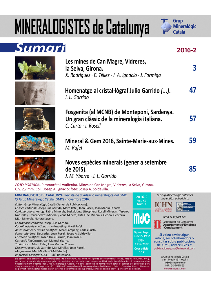 <em>Mineralogistes</em> (2016-2) - Sumari i crèdits