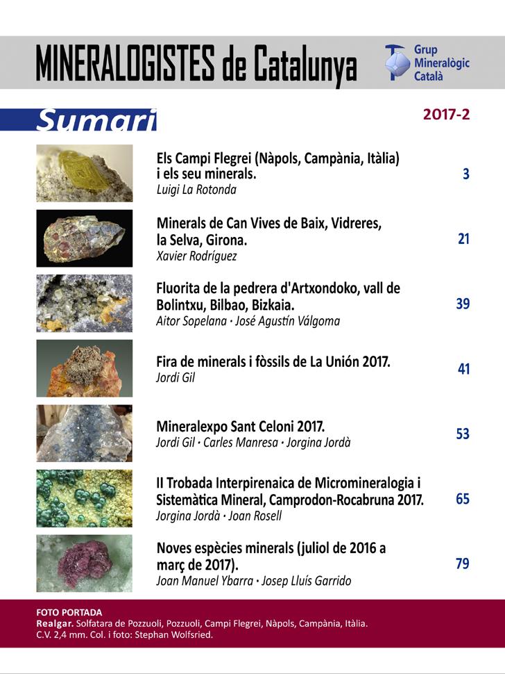 <em>Mineralogistes</em> (2017-2) - Sumari