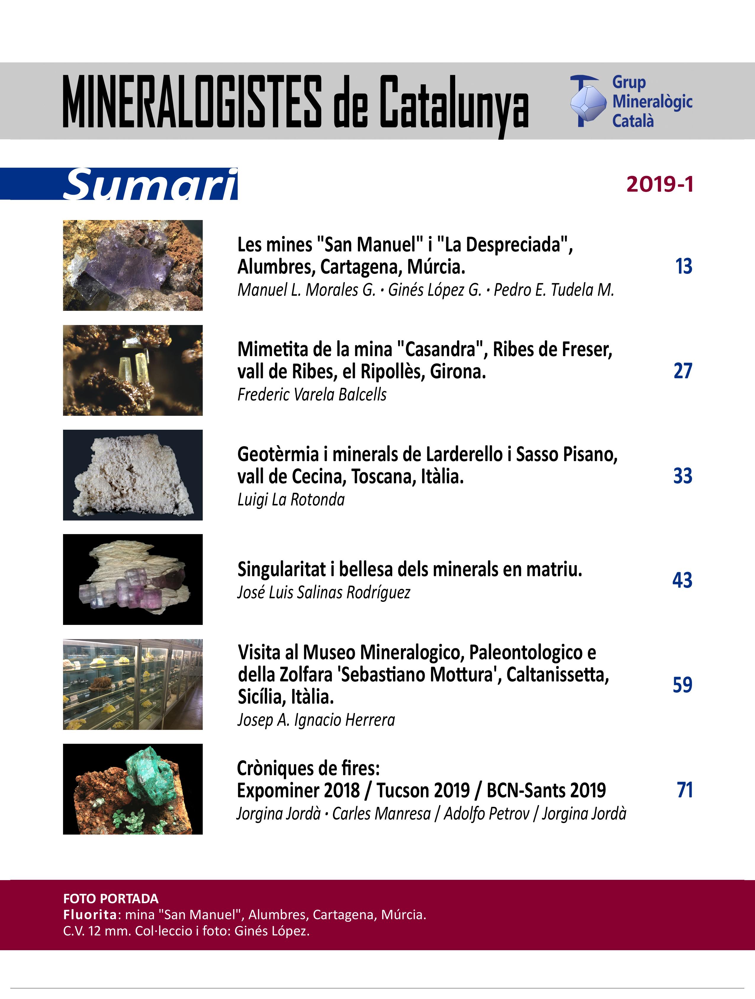 <em>Mineralogistes</em> (2019-1) - Sumari