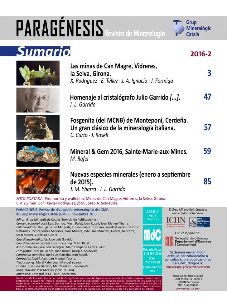 <em>Paragénesis</em> (2016-2) - Sumario y créditos
