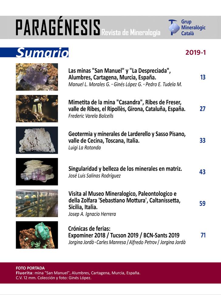 <em>Paragénesis</em> (2019-1) - Sumario